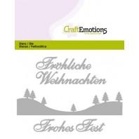CraftEmotions Die Text - Fröhliche Weihnachten (DE) Card 11x9cm (07-16)