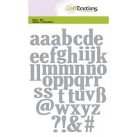 Die Craftemotions Alphabet Lowercase (kleine letters)
