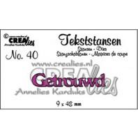 Crealies Tekststans no 40 Getrouwd (NL) 9 x 48 mm / CLTS40