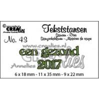 Crealies Tekststans no 43 Een gezond 2017 (NL) 6x18-11x35-9x22mm / CLTS43