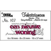 Crealies Tekststans no 107 Een nieuwe woning (NL) 6x18-8x35-10x37mm / CLTS107