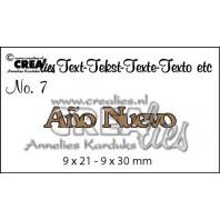 Crealies Tekststans (ES) nr 7  Año Nuevo 9x21-9x30mm  / CLES07