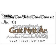 Crealies Tekststans (SW) nr 101  Gott Nytt Ar 9x22-10x21-8x14mm  / CLSE101
