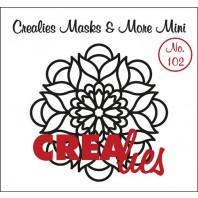 Crealies Masks & More Mini no. 102 Mandala B 105mm / CLMMM102 (04-17)