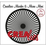 Crealies Masks & More Mini no. 104 Zonnestralen recht 105mm / CLMMM104 (04-17)