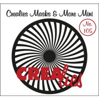 Crealies Masks & More Mini no. 105 Zonnestralen gebogen 105mm / CLMMM105 (04-17)