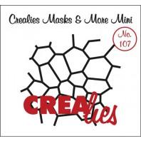 Crealies Masks & More Mini no. 107 Mozaïek 98x107mm / CLMMM107 (04-17)