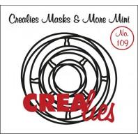 Crealies Masks & More Mini no. 109 Verstrengelde cirkels 100x105mm / CLMMM109 (04-17)