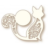 Wild Rose Studio's Specialty die - Cat and Moon SD070