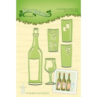 LeCrea - Lea'bilitie Wine bottle & glass snij en embossing mal 45.2304 (08-16)