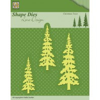 Nellies Choice Shape Die - Christmas trees SDL026 (08-16)