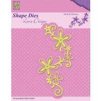 Nellies Choice Shape Die - Swirl & flowers SDL028 (08-16)
