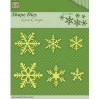 Nellies Choice Shape Die - Snowflakes SDL029 (08-16)