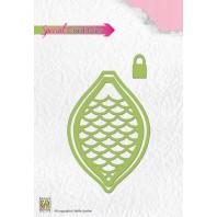 Nellies Choice Special Card Die  - Christmas shake ball cone CBD002  6,7x9,8cm (10-16)