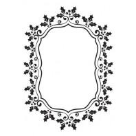Nellie's Choice Emb.folder Kerst ovaal frame van hulst EFE024 (08-16)