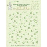 LeCrea - Border embossing folder background Stars 35.2564 (08-16) 14,4x16cm