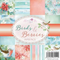 Wild Rose Studio's 6x6 Paper Pack Birds and Berries a 36 VL PP051 (08-16)