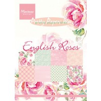 Marianne D Paper pad English roses PK9143 15x21 cm (01-17)