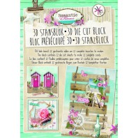 Studio Light Die cut blocs A4 12 vel Romantic Summer 29 STANSBLOKRS29
