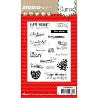 Studio Light Clearstempel A6 Kerst teksten (EN) nr 156 STAMPSL156 (11-16)