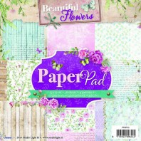 Studio Light Paper pad 36 vel 12 designs Beautiful Flowers nr 33 PPSL33 15x15cm (05-2016)