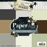 Studio Light Paper pad 36 vel 12 designs Frozen Forest nr 38 PPFF38 15x15cm (09-2016)