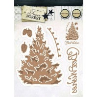 Studio Light Embossing Die Cut Stencil Frozen Forest nr 14 STENCILFF14 (09-16)