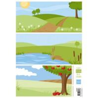 Marianne D 3D Knipvellen Eline's background meadow AK0066 A4 (04-17)