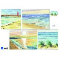 Marianne D 3D Knipvellen Tiny's achtergrond strand IT595 A4 (06-17)