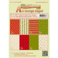 LeCrea - Christmas Paper Patch designs green/red A5  170gr 16 vellen 51.2687 (08-16)