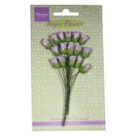 Paper Flowers Roses Bud lavender