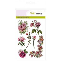 Clear Stamp Botanical Rose garden 1 A6