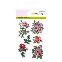 Clear Stamp Botanical Rose garden 2 A6