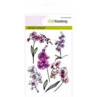 Clear Stamp Orchidee, takken A6