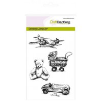 CraftEmotions clearstamps A6 - vintage kinderspeelgoed Lovely Baby (09-16)