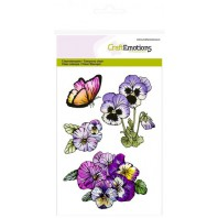CraftEmotions clearstamps A6 - violen 1 Sweet Violets (11-16)