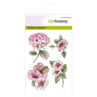 CraftEmotions clearstamps A6 - Hortensia Hibiscus (06-17)