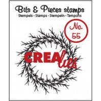 Crealies Clearstamp Bits&Pieces no. 55 krans 45x45mm / CLBP55 (10-16)