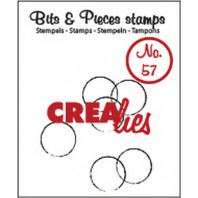 Crealies Clearstamp Bits&Pieces no. 57  grunge circles 12x12-15x21-19x22mm / CLBP57 (10-16)