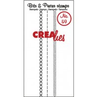 Crealies Clearstamp Bits&Pieces no. 59  Stitch A 95mm / CLBP59 (10-16)