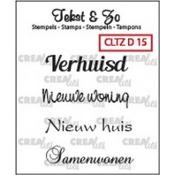 Crealies Clearstamp Tekst&Zo Divers 15 (NL) 33mm / CLTZD15