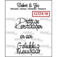 Crealies Clearstamp Tekst&Zo Kerst 19 (NL) 33mm / CLTZK19