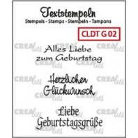 Crealies Clearstamp Tekst (DE) Geburtstag 02 max 33mm  / CLDTG02 (10-16)