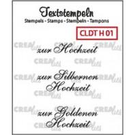 Crealies Clearstamp Tekst (DE) Hochzeit 01 max 33mm  / CLDTH01 (10-16)