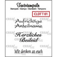 Crealies Clearstamp Tekst (DE) Teilname 01 max 33mm  / CLDTT01 (10-16)