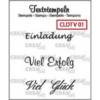 Crealies Clearstamp Tekst (DE) Viel 01 max 33mm  / CLDTV01 (10-16)