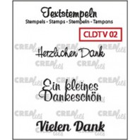 Crealies Clearstamp Tekst (DE) Viel 02 max 33mm  / CLDTV02 (10-16)