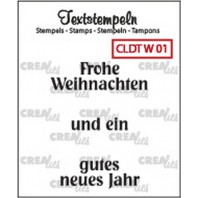 Crealies Clearstamp Tekst (DE) Weihnachten 01 max 33mm  / CLDTW01 (10-16)