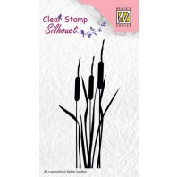Nellie's Choice Clearstamp - bulrushes SIL002