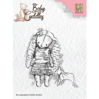 Nellie's Choice Clearstamp - Baby Cuddles Princess Rabbit CSBC001 (08-16)